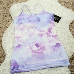 DYI Watercolor Floral Lilac Workout Tank